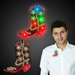 Flashing Cowboy Boot LED Blinkies