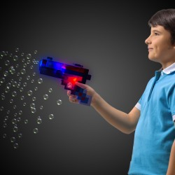 LED Pixel Bubble Gun
