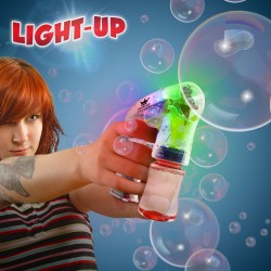 Light Up Bubble Gun - 5 1/2 Inch