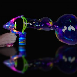 Super Duper Light Up Bubble Gun - 6 1/2 Inch