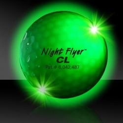 Green Night Flyer Golf Ball