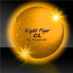 Yellow Night Flyer Golf Ball