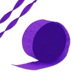 Purple Crepe Paper Streamer