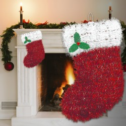 Stocking Tinsel Decoration