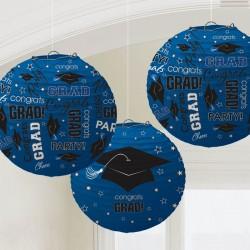 Blue Congrats Grad Paper Lanterns