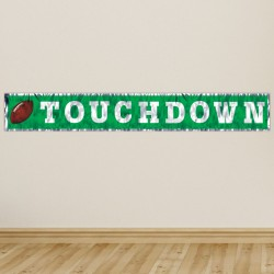 Football Touchdown Fringe Banner - 5'