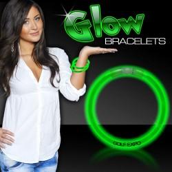 "Green Superior 8"" Glow Bracelets"