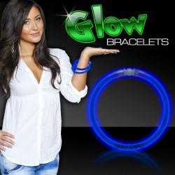 "Blue Superior 8"" Glow Bracelets"