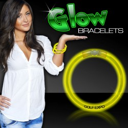 "Yellow Superior 8"" Glow Bracelets"