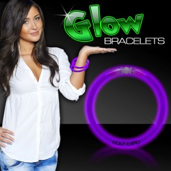 Purple Superior 8 Inch Glow Bracelets