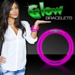 "Pink Superior 8"" Glow Bracelets"