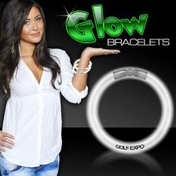 "White Superior 8"" Glow Bracelets"