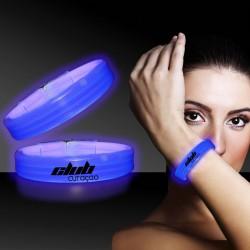 Blue Deluxe Triple Wide 9 Inch Glow Bracelet