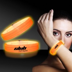 Orange Deluxe Triple Wide 9 Inch Glow Bracelet