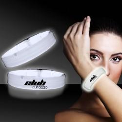 White Deluxe Triple Wide 9 Inch Glow Bracelet
