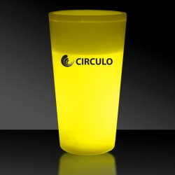 Yellow 12 Ounce Glow Cups