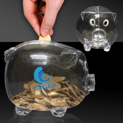 Clear Plastic Piggy Bank