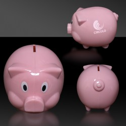 Pink Plastic Piggy Bank