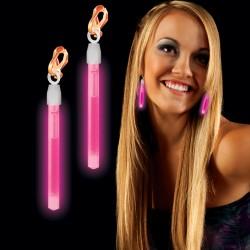 Pink Glow Clip On Earrings