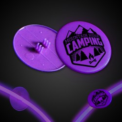 Purple Clip On Plastic Medallion