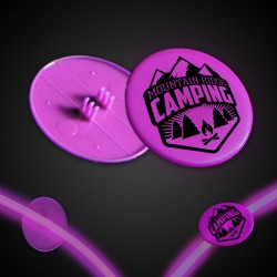 Pink Clip On Plastic Medallion