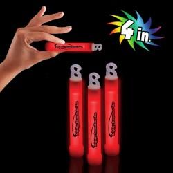 "Red 4""  Premium Glow Sticks"
