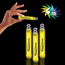 "Yellow 4"" Premium Glow Sticks"