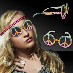 Tie Dye Peace Sign Sunglasses