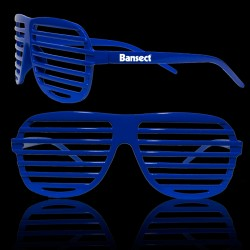 Blue Slotted Shutter Shades