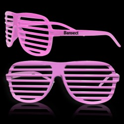 Pink Slotted Shutter Shades