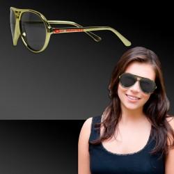 Gold Metallic Aviator Sunglasses