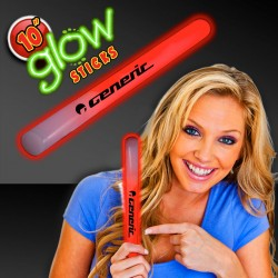 "Red 10"" Glow Sticks"