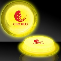 "3"" Yellow Glow Circle Badges"