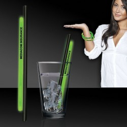 "Green 9"" Glow Straws and Bracelets"