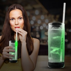 "Green 9"" Glow Motion Straws"
