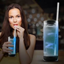 Blue Glow Motion Straws - 9""