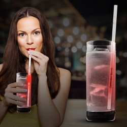 Red Glow Motion Straws - 9""