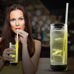 "Yellow 9"" Glow Motion Straws"