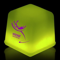 "1"" Yellow Glowing Ice Cubes"