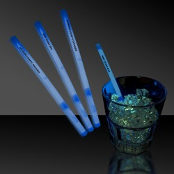 "Blue 5"" Glow Swizzle Sticks/Drink Stirrers"