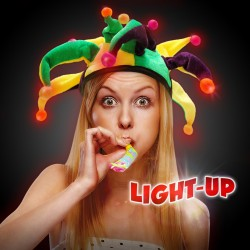 Light Up Mardi Gras Jester Hat