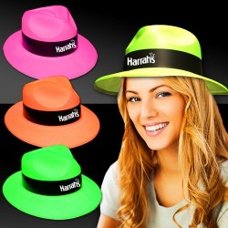 Assorted Color Plastic Fedoras