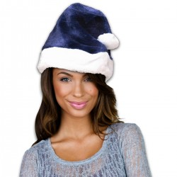 Blue Plush Santa Hat