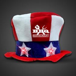 Flashing LED Uncle Sam Hat