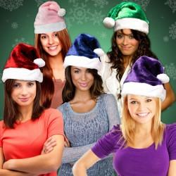 Plush Santa Hats - Variety of Colors