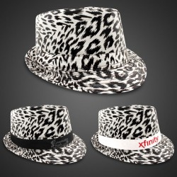 Leopard Print Fedora (Imprintable Bands Available)