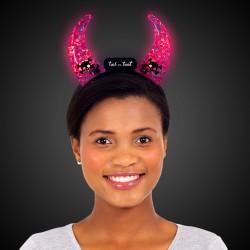 Light Up Crystal Devil Horns