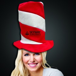 Red and White Candy Stripe Stove Pipe Hat