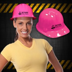 Pink Plastic Construction Hat