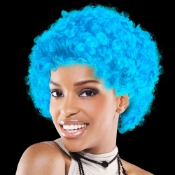 Light Blue Team Spirit Wigs